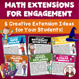 Math Extension Ideas for Early Finishers