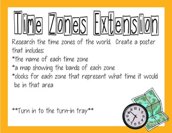 Math Extension - Time (Everyday Math Unit 10)