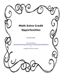 Math Extra Credit Projects