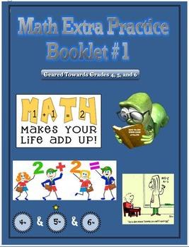 Math Extra Practice Workbook #1