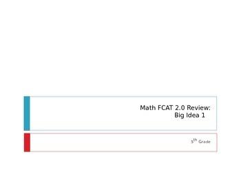 Math FCAT 2.0 Review: Big Idea One