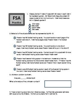 Math FSA practice