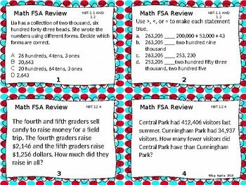 Math FSA task card review