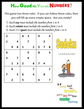 Math FUN:  Sudoku, Sequence and more…