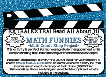Math FUNNIES - CREATE a MATHEMATICAL CONCEPT Comic Strip Project!!
