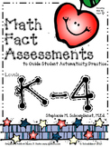 Math Fact Assessment Full Set