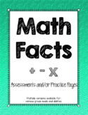 Math Fact Assessments and Practice Pages