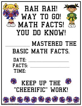 Certificates - Math Facts