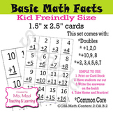 Math Fact Basic Flash Cards Doubles Plus 10 Plus 9 Set of