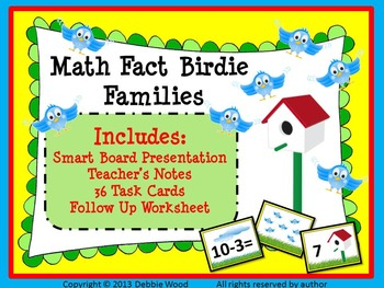 Spring SMART Board Math Fact Birdie Families