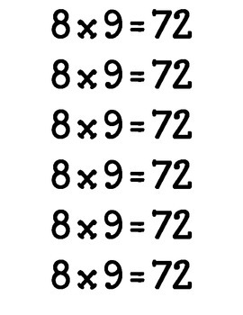 "Math Fact Bookmarks ""Fact Marks!""  * Hardest Math Facts"