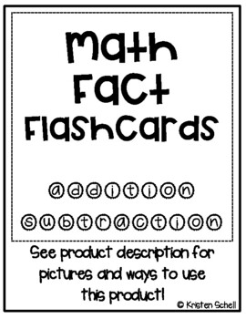 Math Fact Cards- Addition and Subtraction Bundle 0-10
