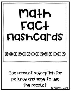 Math Fact Cards- Multiplication 0-10