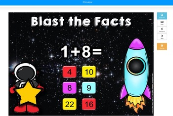 Addition Facts Math Fluency Practice Cards & Boom Cards Distance Learning