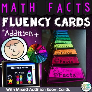 Math Fact Fluency Practice Cards for Addition Facts