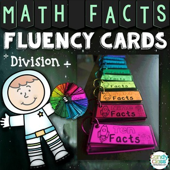 Math Fact Cards for Division Facts