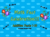 Math Fact Celebration:  Addition
