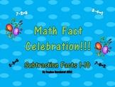 Math Fact Celebration:  Subtraction