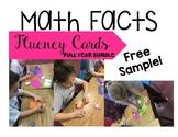 Math Fact Center FULL YEAR Growing Bundle FREE SAMPLER