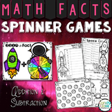 Math Facts Games for Fluency Practice - Addition and Subtraction Math Spinners