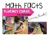 Math Fact Centers FULL YEAR GROWING BUNDLE