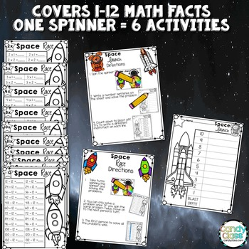 Math Fact Fluency Practice Games - Multiplication & Division Spinning Fun