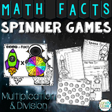 Math Facts Games for Fluency Practice - Multiplication & Division Fact Spinners