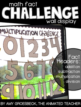 Math Fact Challenge Wall Display