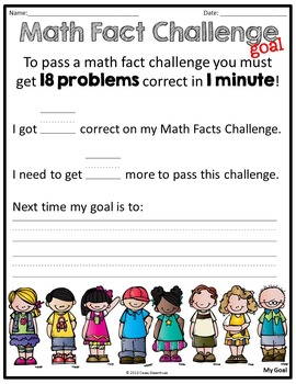 Math Fact Challenges Bundle (Addition/Subtraction)
