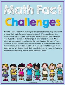 Math Fact Challenges Bundle (Addition/Subtraction)