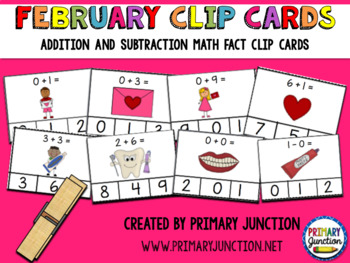 Math Fact Clip Cards Bundle: Addition and Subtraction to 10