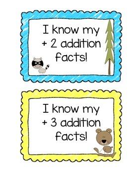 Math Fact Club Chart - Camp Theme