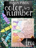 Math Fact Color-by-Number Freebie (addition/subtraction)