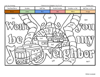 September Holiday Coloring Book by Multiplication Fact Strategy