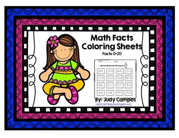 Math Facts Coloring Sheets (Facts 0-20)