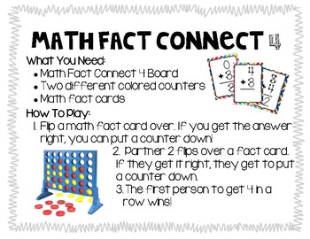 Math Fact Connect Four