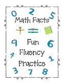 Math Fact FUN Fluency Center Practice -NO PREP -includes Number Bond Practice