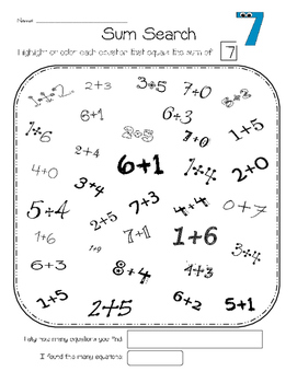 Math Fact FUN Fluency Center Practice -NO PREP -includes Number Bond Practice