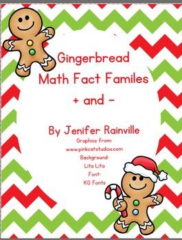 Math Fact Families Gingerbread Theme