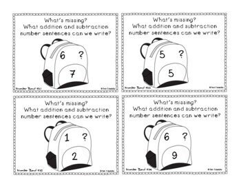 Math Fact Families and Number Bonds up to 10 (1st Grade) English Version