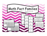 Math Fact Family Cards Sums to 10