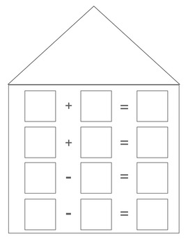Math Fact Family House