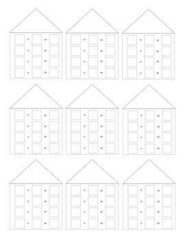 All Worksheets fact families worksheets : Common Worksheets » Fact Family House - Preschool and Kindergarten ...