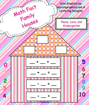 Math Fact Family Houses