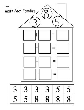Math Fact Family Practice Sheets