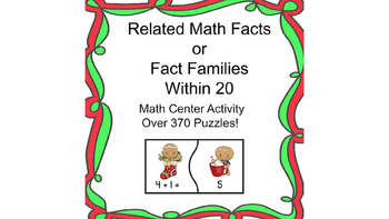 math fact family puzzles winter gingerbread friends theme tpt