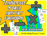 Math Fact Flashcards (Addition, Subtraction, Multiplicatio
