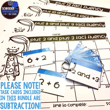 Math Fact Flashcards and Practice for SUBTRACTION!