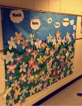 Math Fact Flower Craftivity