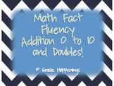 Math Fact Fluency 0-10 Addition